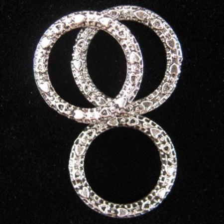 Gesloten ring Antiek verzilverd 14.5mm