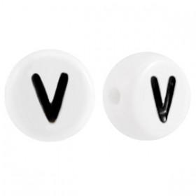 Acryl letterkraal rond V
