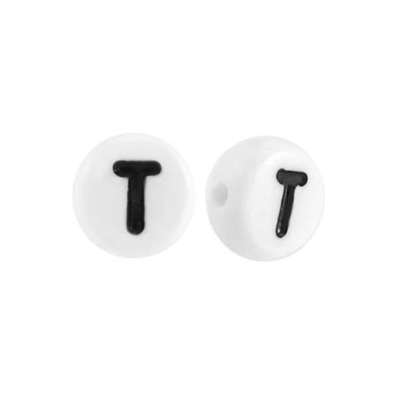 Acryl letterkraal rond T