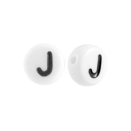 Acryl letterkraal rond J