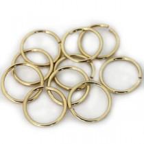 Open ringetjes metaal Goud
