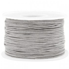 Waxkoord 1.0mm Light grey