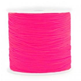Macramé draad 0.8mm Neon azalea pink