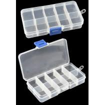 Sieraden opbergbox 10 vaks Transparant
