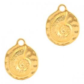 DQ  bedel schelp Gold (nikkelvrij)