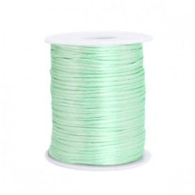 Satijnkoord 1.5mm Neo mint green