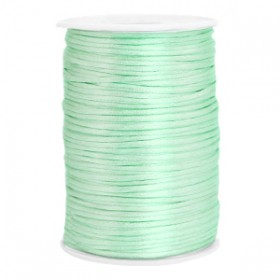 Satijnkoord 2.5mm Neo mint green