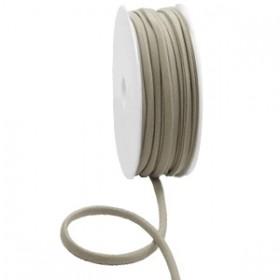 Gestikt elastische lint 5mm Metallic taupe