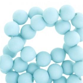 Acryl kralen mat rond 6mm Sky blue