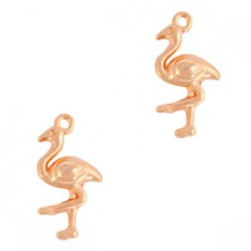 DQ metalen bedel flamingo Rose goud
