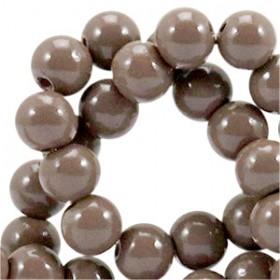 Glaskraal 8 mm Opaque terra brown