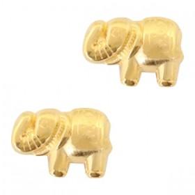 Kralen DQ metaal olifant Goud (nikkelvrij)