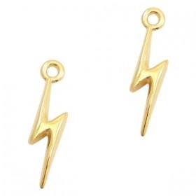 DQ metaal bedel lightning Goud (nikkelvrij)