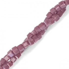 Facet kralen cube 2x2mm Mauve purple-pearl shine coating
