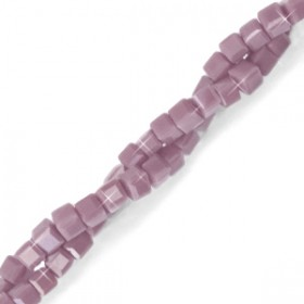 Facet kralen cube 2x2mm Lavender purple-pearl shine coating