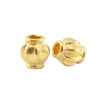 DQ Metalen spacer gold 4x3.5mm