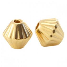 DQ Metalen spacer gold 4mm