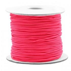 Gekleurde elastische draad 0.8mm Fluor rose