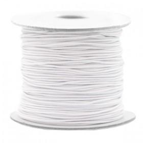 Gekleurde elastische draad 0.8mm White