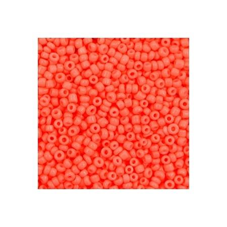 Rocailles 2mm Neon coral orange