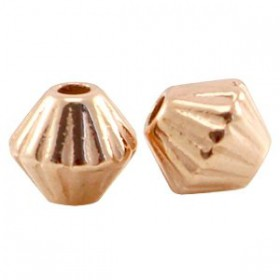 DQ Metalen spacer cone rosé goud 4mm