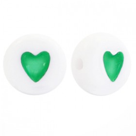 Acryl letterkraal rond hart Groen