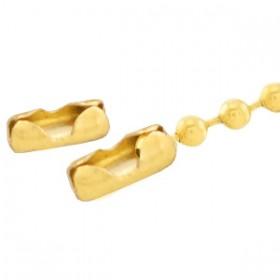 Roestvrij stalen (RVS) stainless steel onderdelen slotje voor ball chain 1.4mm Goud