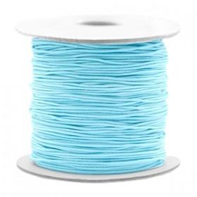 Gekleurde elastische draad 0.8mm Light turquoise blue