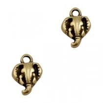 DQ metaal bedel olifant Antiek brons (nikkelvrij)