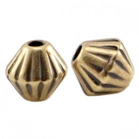 DQ Metalen spacer brons Cone 4mm