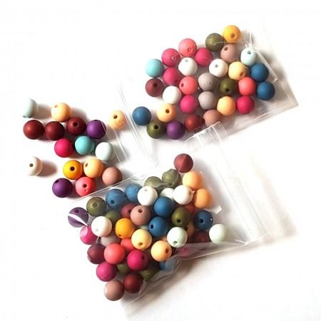 Acryl kralen mat rond 10mm mix color