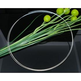 Memory wire voor halsband Antiek zilver