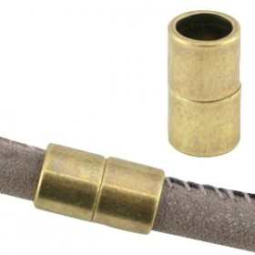 DQ metaal magneetslot Ø6.2mm Antiek brons (nikkelvrij)