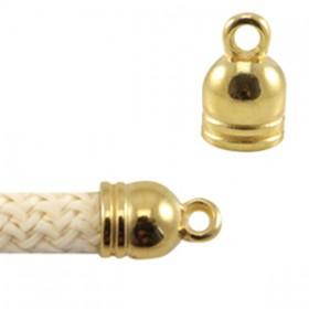 DQ metaal eindkapje met oog voor 5 mm koord Goud