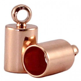 DQ eindkapje 4 mm DQ Rosé gold plated duurzame plating