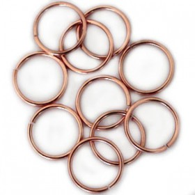 DQ 8 mm buigring Rose Gold plated duurzame plating
