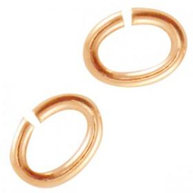 DQ metaal buigring ovaal Rosé goud (nikkelvrij)