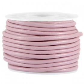 DQ leer rond 2 mm Dark lilac rose