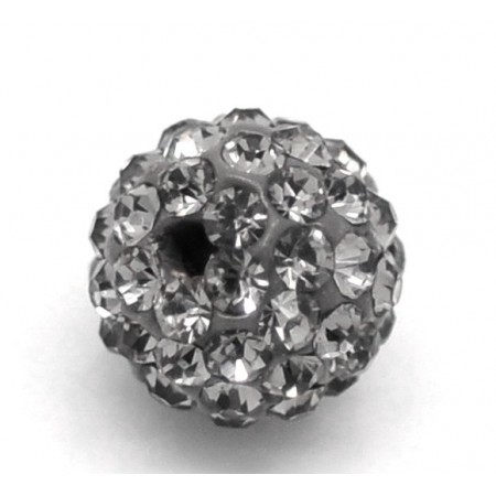 Czech rhinestone beads 10mm Hematite