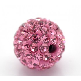 Czech rhinestone beads 10mm Rose