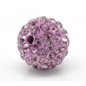 Czech rhinestone beads 10mm Light amethyst