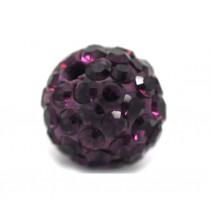 Czech rhinestone beads 8mm Amethyst