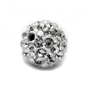 Czech rhinestone beads 8mm Crystal