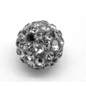 Czech rhinestone beads 8mm Hematite