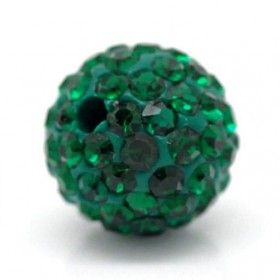 Czech rhinestone beads 10mm Emerald green