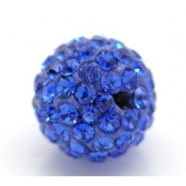 Czech rhinestone beads 10mm Sapphire