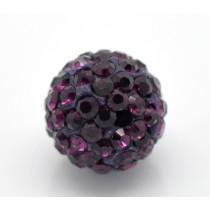 Czech rhinestone beads 10mm Amethyst