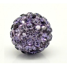 Czech rhinestone beads 10mm Tanzanite