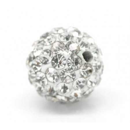 Czech rhinestone beads 10mm Crystal