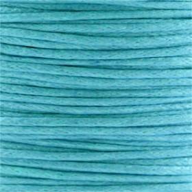 Waxkoord 1.0mm Cyaan blauw